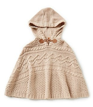 Copper Key Big Girls 7-16 Cable-Knit Poncho Sweater