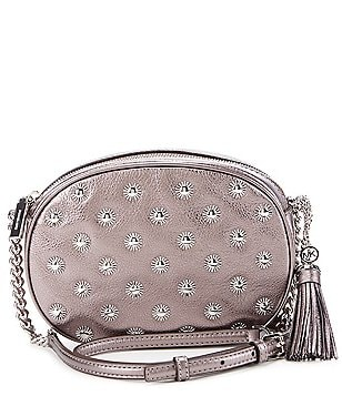 MICHAEL Michael Kors Ginny Tasseled Studded Medium Cross-Body Bag