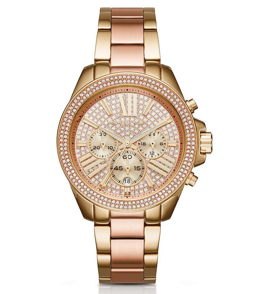 Michael Kors Wren Pavé Chronograph Bracelet Watch | Dillards