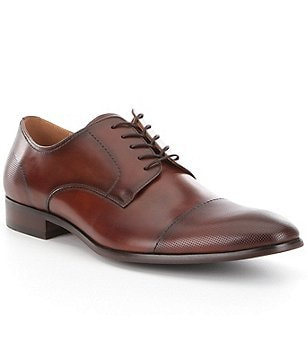 Steve Madden Men´s Pasage Leather Stitched Perforated Cap Toe Dress Shoes