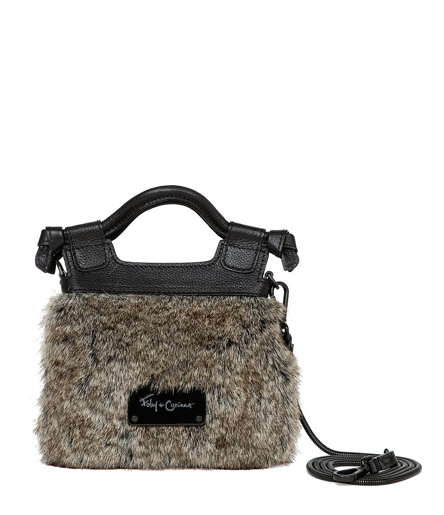 Foley & Corinna Phoebe Tiny City Faux-Fur Cross-Body Bag