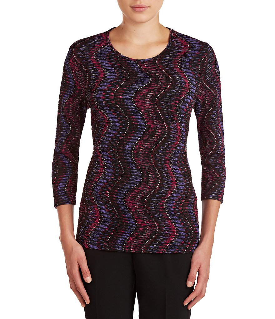 Allison Daley Wave-Print Top