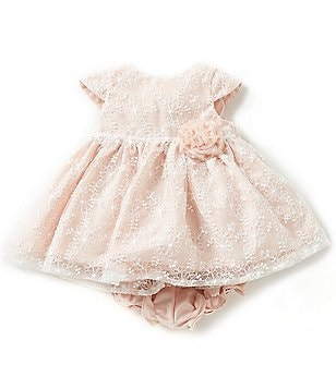 Laura Ashley London Newborn-24 Months Lace-Overlay Dress