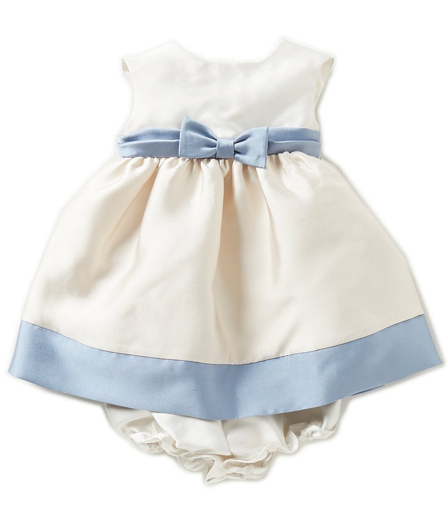 Laura Ashley London Baby Girls Newborn-24 Months Satin Twill Color Block Dress
