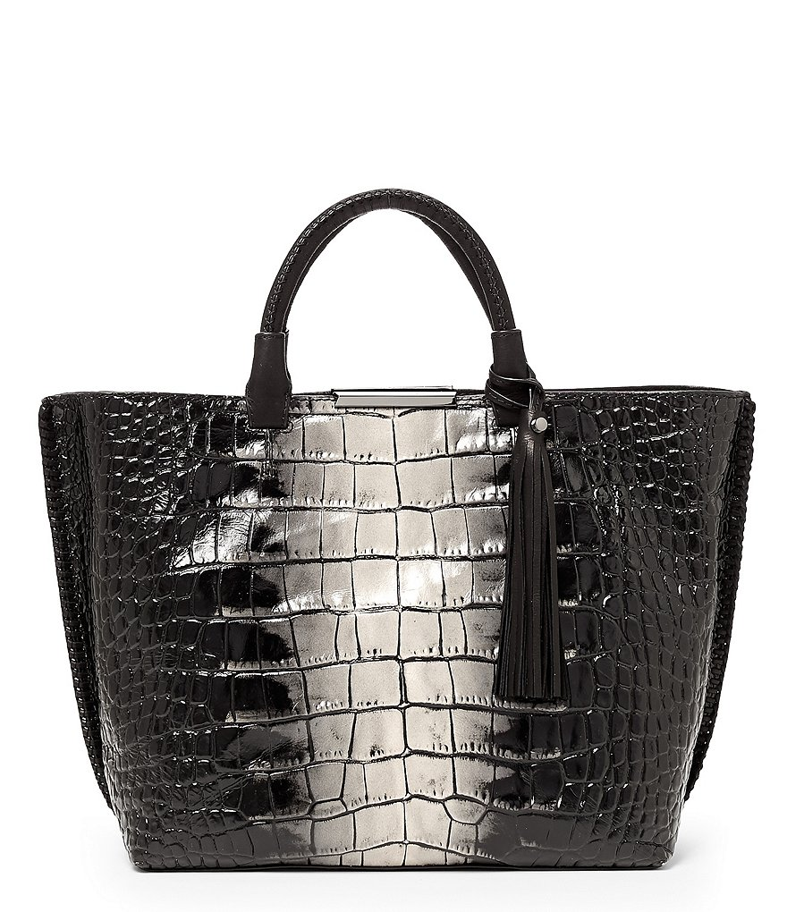 Botkier Quincy Crocodile-Embossed Tote