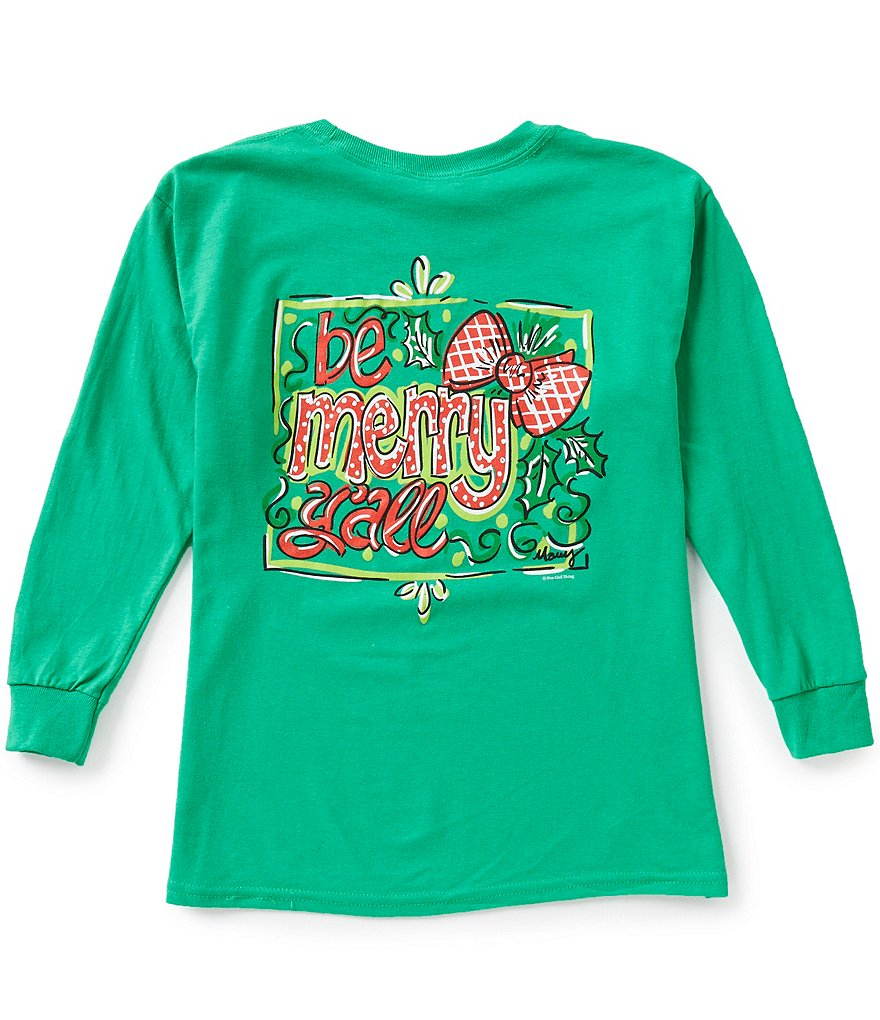 Itsa Girl Thing Big Girls 7-16 Christmas Be Merry Y'all Long-Sleeve Graphic Tee