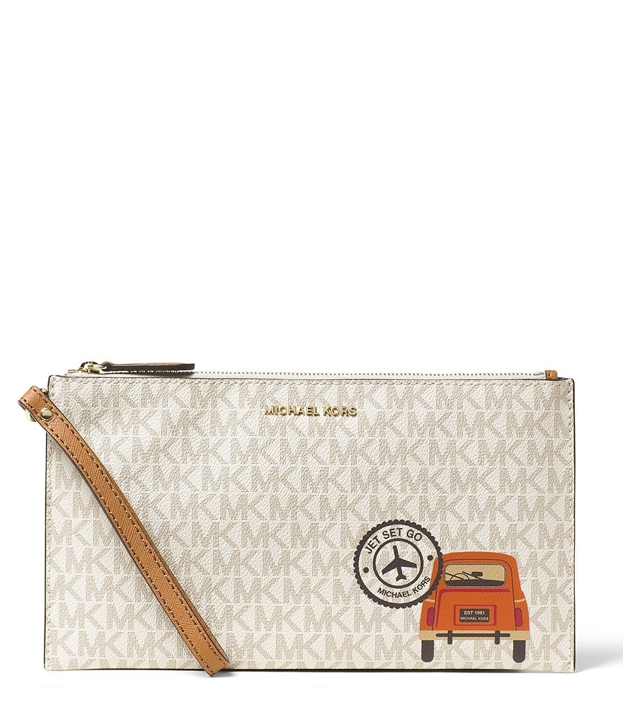 MICHAEL Michael Kors Drive Away Signature Large Clutch