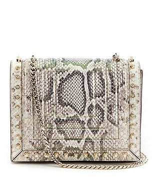 Luana Italy Clio Snake-Print Flap Cross-Body Bag