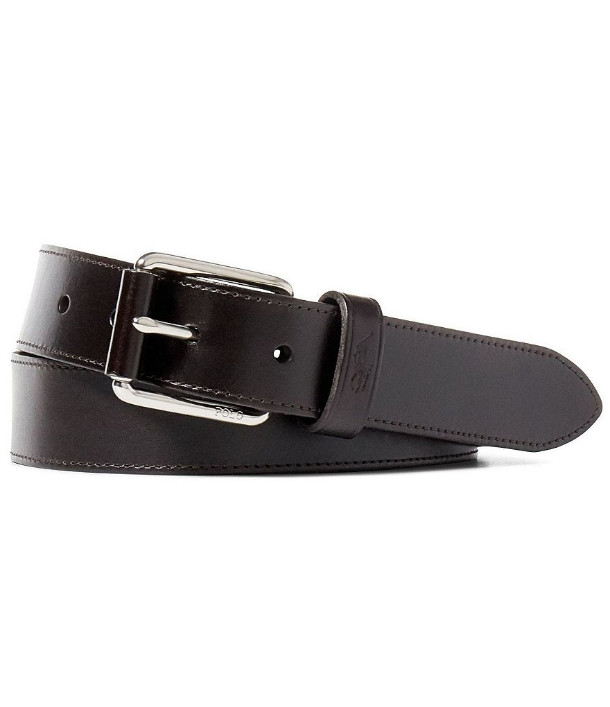 Polo Ralph Lauren Vachetta Leather Roller Belt