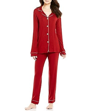 BedHead Metallic-Trimmed Classic Pajamas