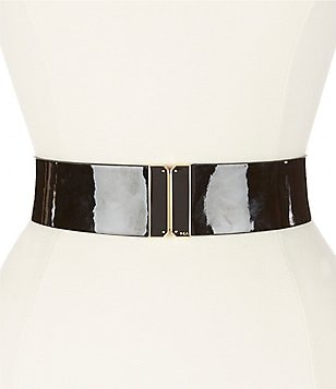 Lauren Ralph Lauren Patent Stretch Belt