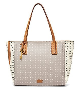 Fossil Emma Heart-Print Tote