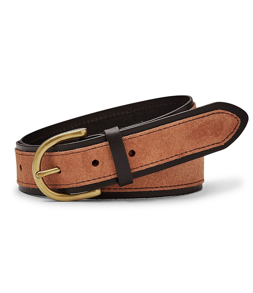 Fossil Color Block Leather & Suede Jean Belt