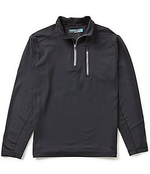 Roundtree & Yorke Performance Big & Tall Long-Sleeve Half-Zip Pullover