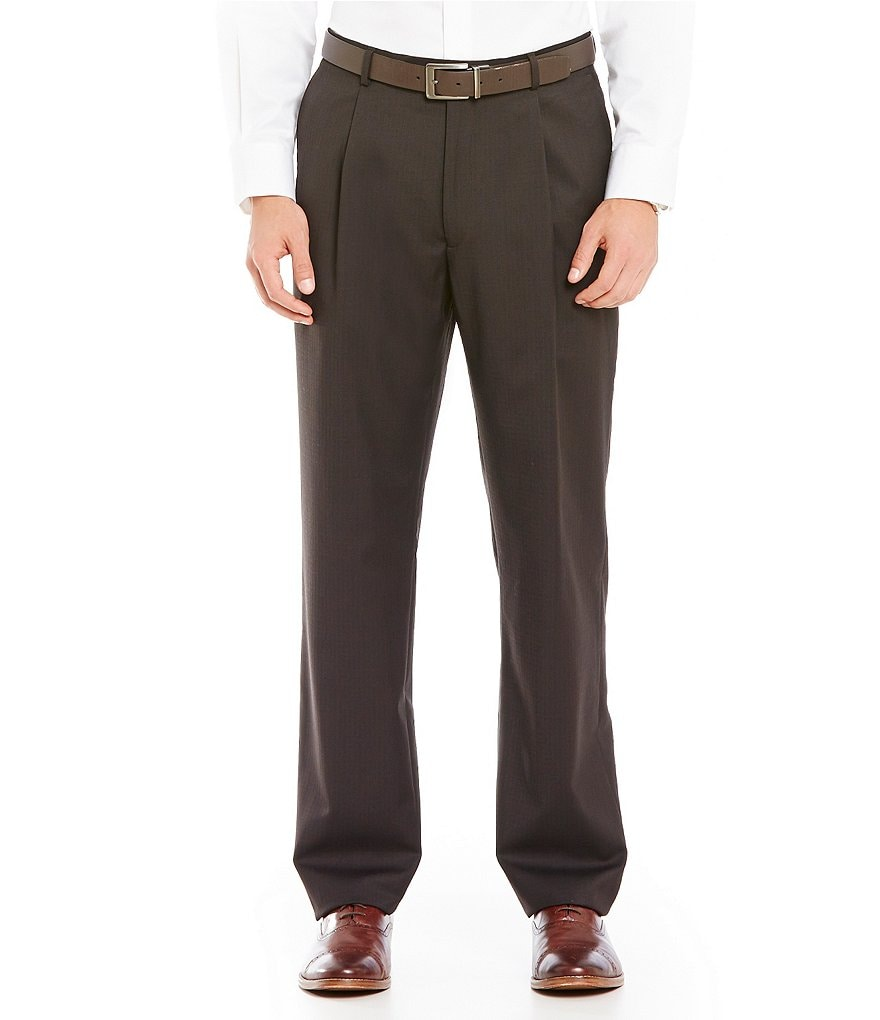 Hart Schaffner Marx Chicago Classic-Fit Pleated Dress Pants