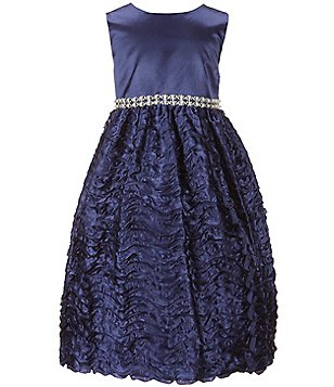 American Princess Little Girls 2T-6X Jeweled-Waist Dress