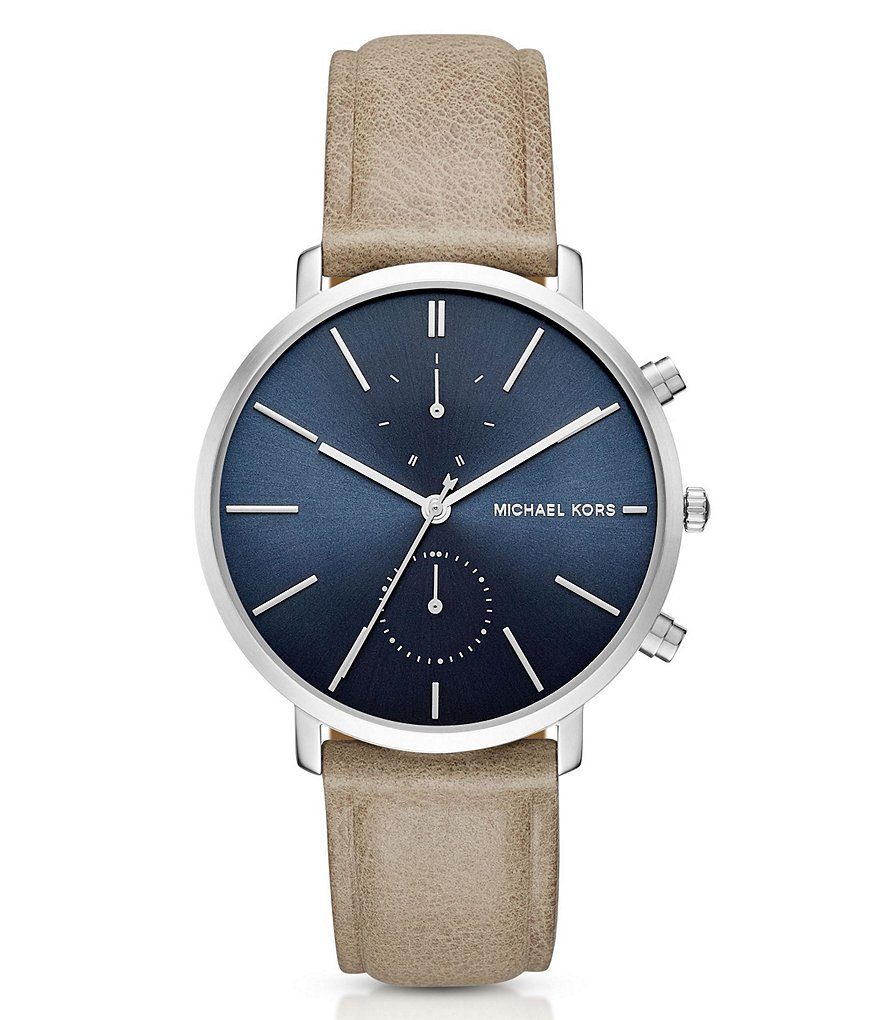Michael Kors Jaryn Chronograph Leather-Strap Watch