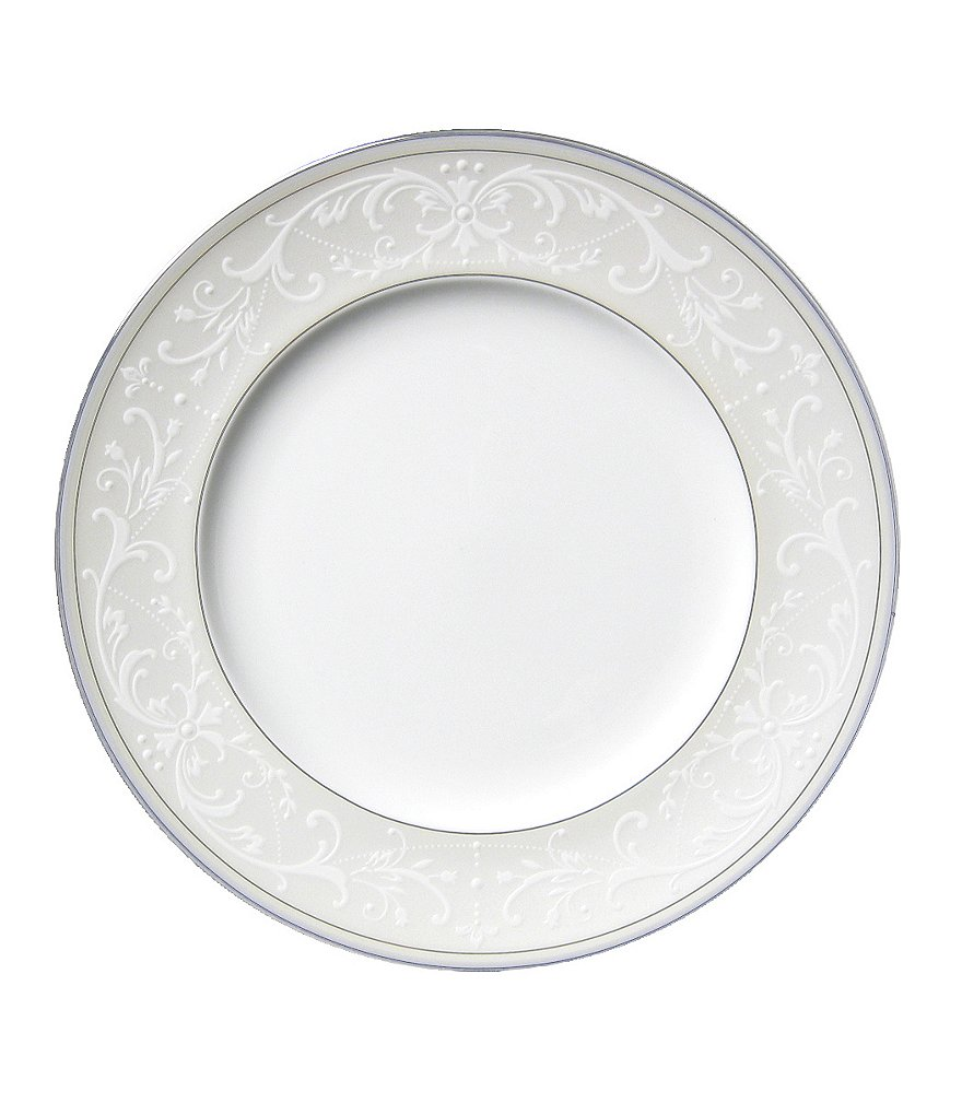 Nikko Pearl Symphony Scroll Bone China Salad Plate