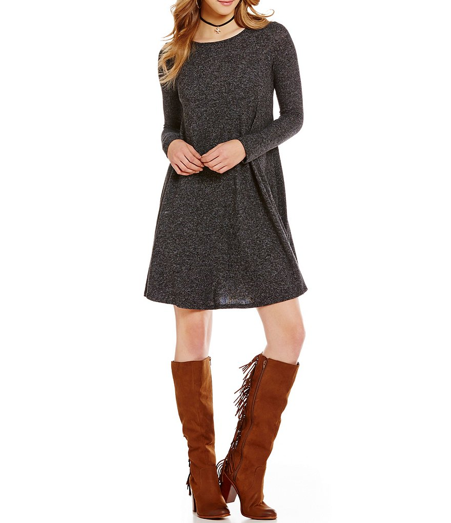 GB Fan Fav Long-Sleeve Knit Swing Dress