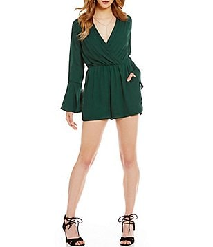 GB Fan Fav V-Neck Bell-Sleeve Romper