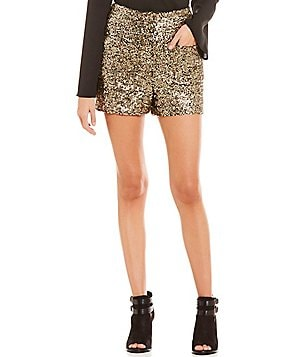 GB High Waist Sequin Shorts