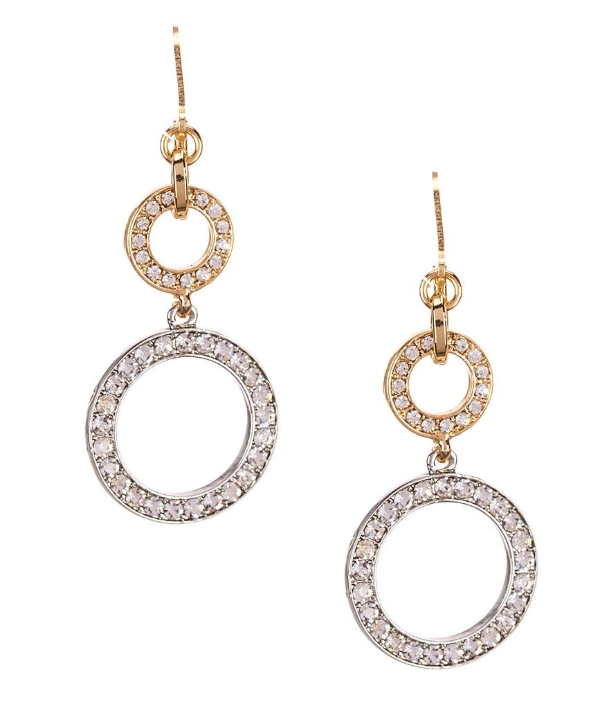 Dillard´s Tailored Circular Crystal Pavé Drop Earrings