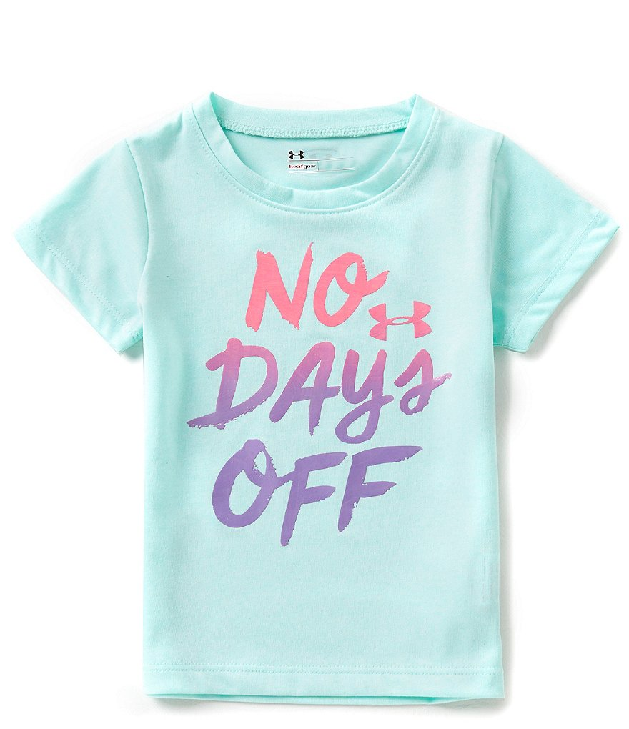 Under Armour Little Girls 2T-6X No Days Off Tee