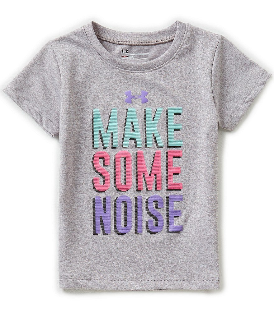 Under Armour Little Girls 2T-6X Make Some Noise Tee