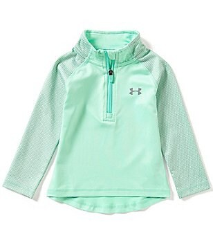 Under Armour Little Girls 2T-6X Checkpoint Shimmer 1/4-Zip Jacket