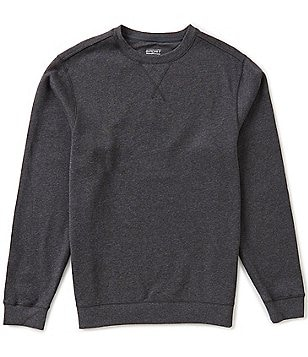 Roundtree & Yorke Sport Big & Tall Long-Sleeve Fleece Crewneck Pullover