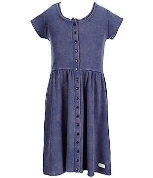 7 for All Mankind Big Girls 7-16 Ribbed Button-Front Dress