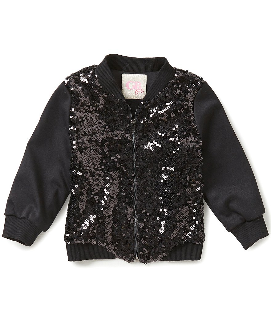 GB Girls Little Girls 4-6X Sequin Bomber Jacket