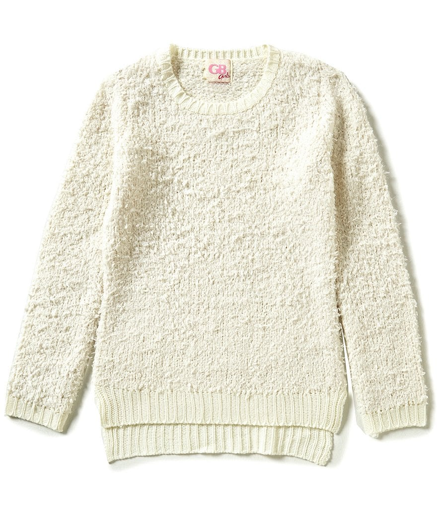 GB Girls Little Girls 4-6X Fuzzy Hi-Low Sweater