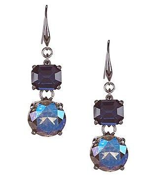 Kennedy Row Double-Drop Stone Earrings