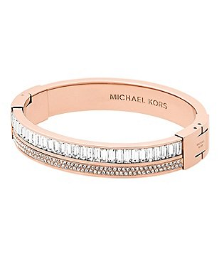 Michael Kors Pavé Crystal Hinge Bangle Bracelet