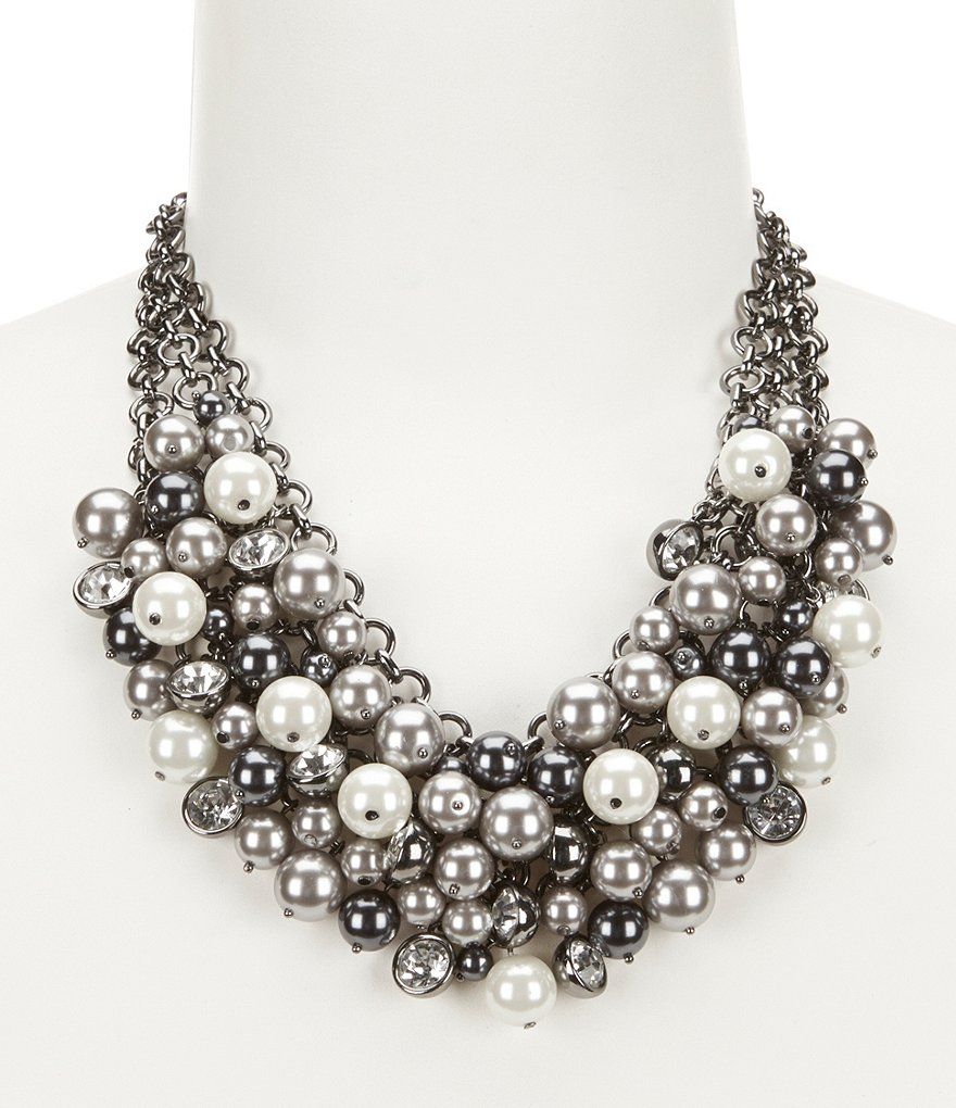 Kennedy Row Pearl Shaky Statement Necklace