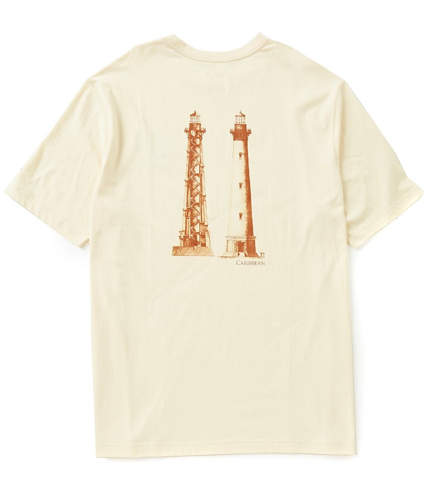 Caribbean Big & Tall Short-Sleeve Light House Screen Print Tee