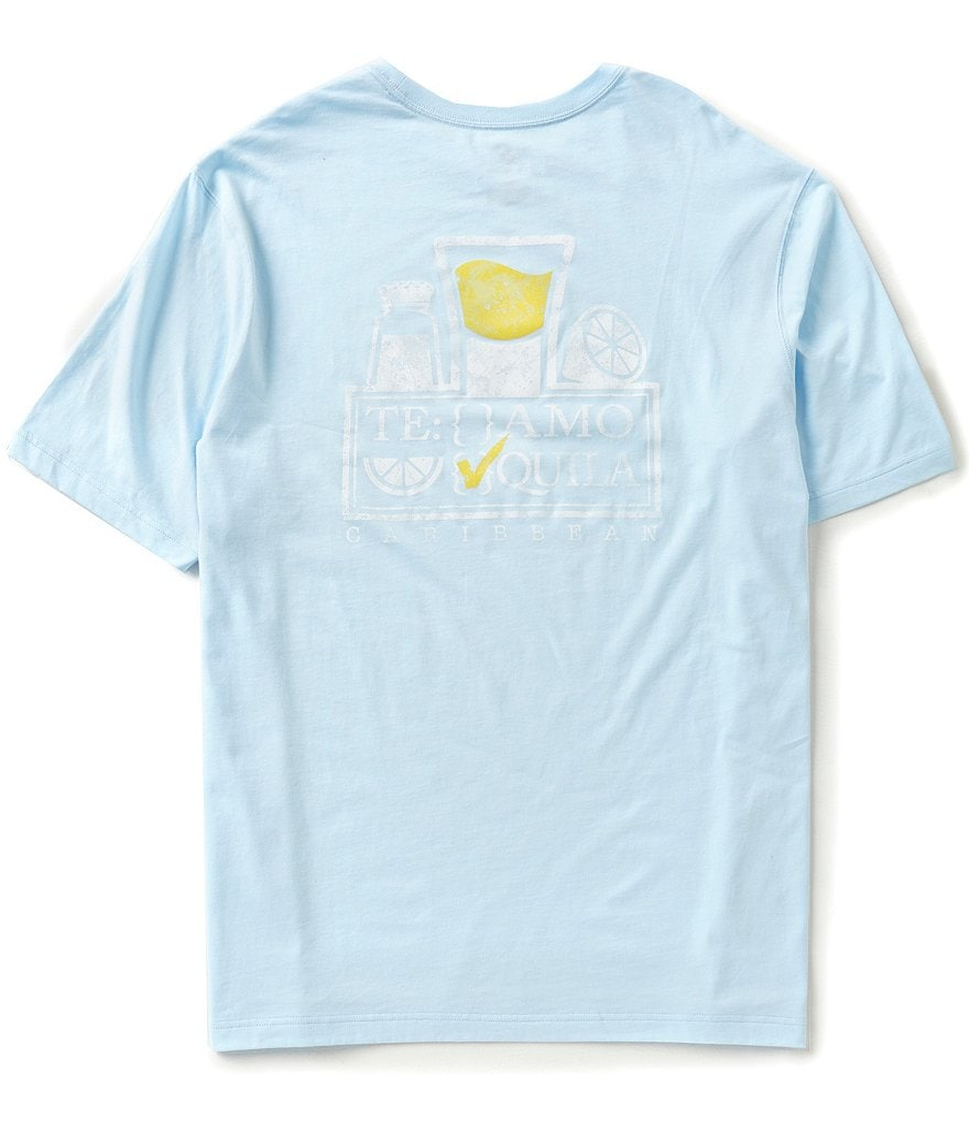 Caribbean Big & Tall Short-Sleeve Tequila Screen Print Tee