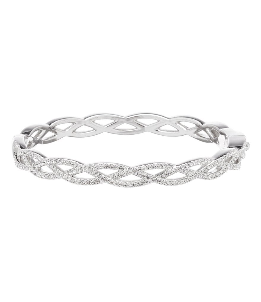 Nadri Pavé Braided Bangle Bracelet