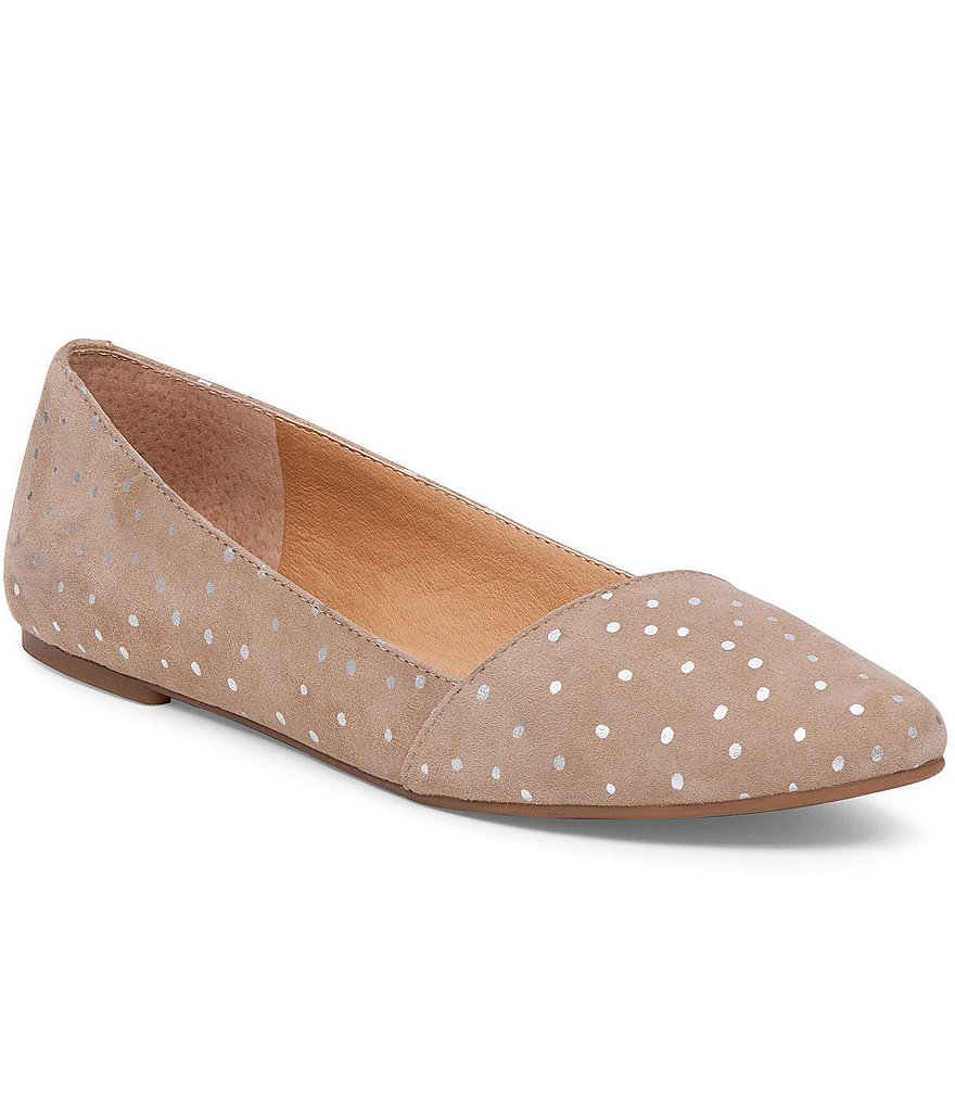 Lucky Brand Archh Metallic Dot Suede Dress Flats