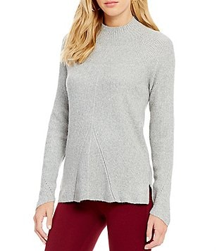 Copper Key Sequin Elbow Patch Sweater