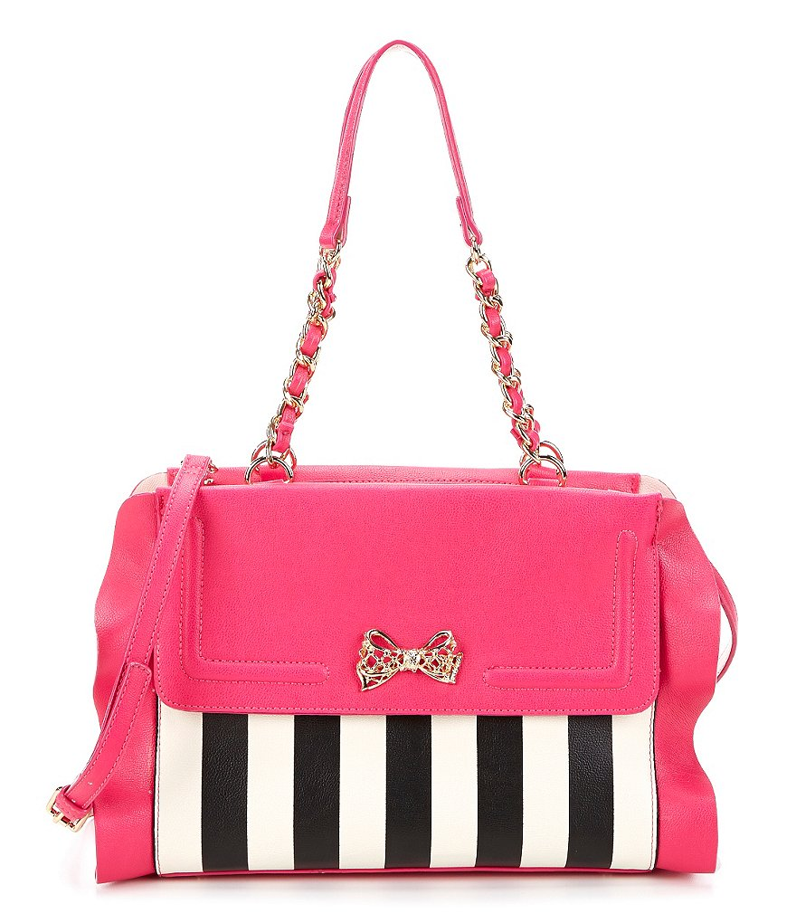 Betsey Johnson Flouncin´ Around Striped Satchel