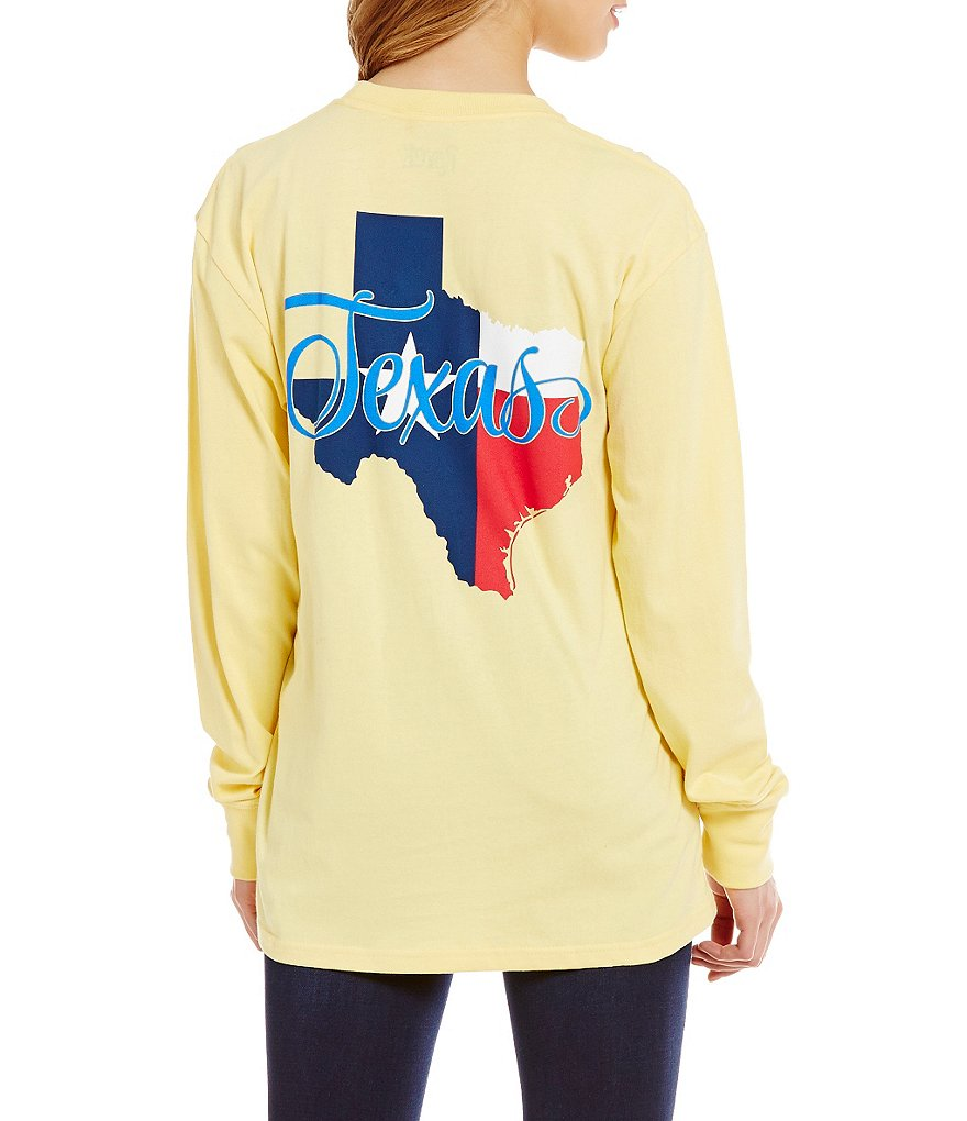 Royce Texas Script Flag Long-Sleeve Graphic Tee