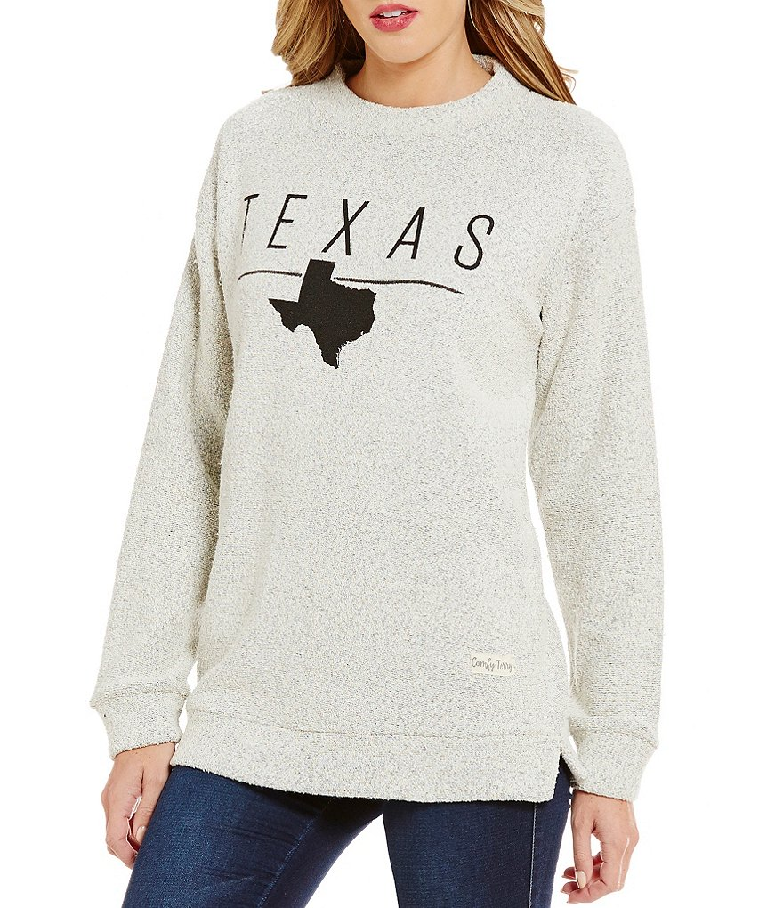 Royce Texas Line Comfy Fleece Top