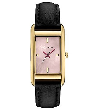 Ted Baker London Tara Mother-of-Pearl Analog Leather-Strap Watch
