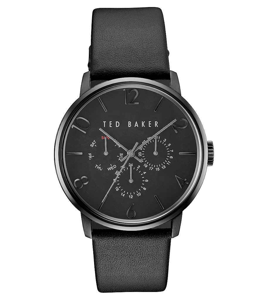 Ted Baker London James Collection Multifunction Leather-Strap Watch