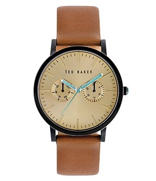 Ted Baker London Brit Multifunction Leather-Strap Watch