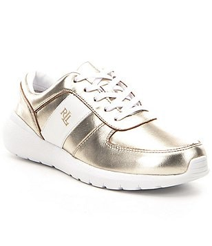 Lauren Ralph Lauren Jay Metallic Lace-Up Sneakers