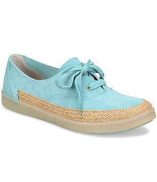 Born Capela Suede Espadrille Detail Lace-Up Sneakers