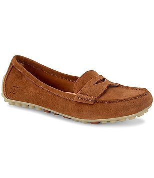 Born Malena Suede Slip-On Penny Loafers